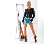 V&V Dámská jeans sukýnka s květinovou aplikací (28) - V&V