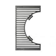 Placa de gratar semi-rotund Tennker Carbon, fonta, 41,8 x 24 cm, negru