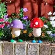 Kerti dekorációs gomba figura 13 cm – Fun-Guys – Lila