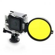 NEOpine Adapter med gult dykfilter för GoPro Hero 3+ och Hero 4