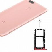 JUNXI Phone For Xiaomi Mi 5X / A1 SIM y SIM/TF Tarjeta de Bandeja (Rojo) de Alta Calidad (Color : Red)