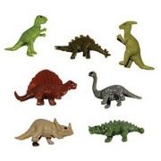 Dinosaur Figures - 10 Tiny Stretchy Mini Dinosaurs