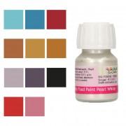 Cake Supplies Pintura comestible metálica de colores de 30 ml - FunCakes - Color Blanco