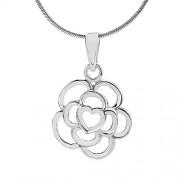 Silvego VESPER stříbrný přívěsek Květina - ZTPA94007
