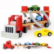Jucarie din lemn Camion cu platforma auto Topbright