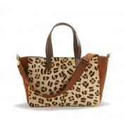 LA REDOUTE COLLECTIONS Leder-Shopper mit Leopardenmuster