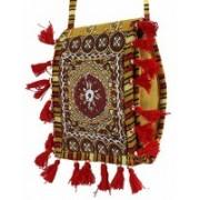 Craft Trade Handmade Designer Embroidered Rajasthani Purse For Women's Multicolor, Red Sling Bag