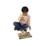 Puzzle lemn magnetic Remorcherul