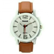 Hwt white dail brwon leather strap ewatch for mens