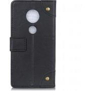 Mobigear Copper Buckle Retro Wallet Hoesje Zwart Motorola Moto G7 / G7 Plus