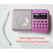 Obit BT-SM71 FM Digital Radio with Usb and Tf Card Slot