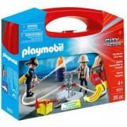 Комплект Плеймобил 5651 - Пожарникари в куфарче, Playmobil, 2900085