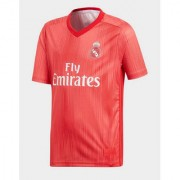 Real madrid club red colour half sleeve football jersey