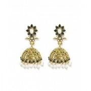 Zaveri Pearls Flower Pattern Pearls Traditional Jhumki Earrings - ZPFK5301