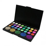 D DOLITY 29 Colores Cosméticos Paleta de Sombra de Ojos Brillate Uso Profesional y Personal # 2