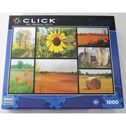 Mega Puzzles Click 1000 piece Garden Collage Jigsaw Puzzle