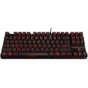 Tastatura Gaming Mecanica Ozone Strike Battle Red LED Cherry MX Brown Layout US