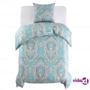 vidaXL Dvodijelni set posteljine klasičnog dizajna 155 x 220 / 80 x 80 cm plavi