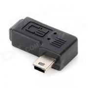 CY U2-064-RI en angulo recto mini USB hembra a adaptador macho - Negro