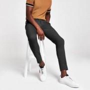 River Island Mens Grey ultra skinny smart trousers