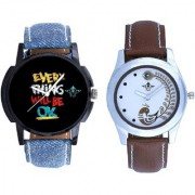 Super Black Dial And Brown Peacock Couple Analogue Watch By Vivah Mart