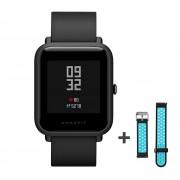 Xiaomi Amazfit Bip fitnesz okosóra GPS (EU verzió) - sötétszürke + ajándék fekete-kék szíj