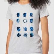 Avengers: Endgame Heads dames t-shirt - Grijs - XL - Grijs