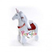 The Original Ponycycle Pony Cycle Ride On Horse For Children 4 To 9 Years Old Or Up To 90 Pounds Medium Size Ponycycle (Color White Unicorn)