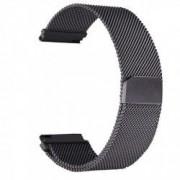 Curea tip Milanese Loop compatibila Smartwatch 24mm telescoape QR Negru