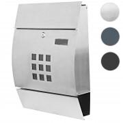 Briefkasten HWC-B32, Wandbriefkasten Postkasten Zeitungsfach pulverbeschichtet ~ Variantenangebot