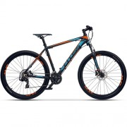 "Bicicleta CROSS GRX 7 DB 27.5"" negru/albastru/ portocaliu 51 cm"