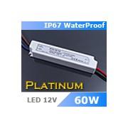 LED tápegység , 12 Volt , 60 Watt , 5A , kültéri , IP67 , Platinum