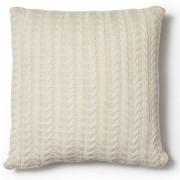 La Forma Sierkussen Semit wit gebreid motief 100% katoen (45 x 45 cm)