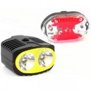 Bicikli lámpa szett 2+9 Led - TD-516