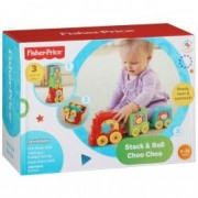 Jucarie bebe trenulet Choo Choo piramida Fisher price 2 in 1