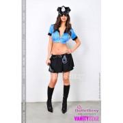 Poliziotta Sexy top gonna super accessoriata Ronda