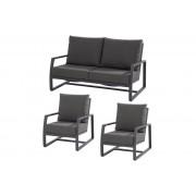Taste 4SO Mauritius stoelen-bank loungeset - matt carbon