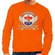 Shoppartners Oranje Holland drinking team sweater heren