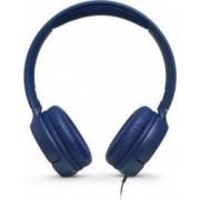 Casti audio On-ear JBL Tune 500, Pure Bass Sound, Hands-free Call Albastru