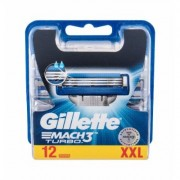 Gillette Mach3 Turbo 12Pc Per Uomo (Replacement Blade)