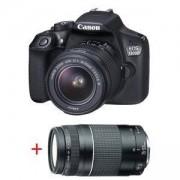 Огледално-рефлексен фотоапарат Canon EOS 1300D TRAVEL KIT (EF-s 18-55 mm DC III + EF 75-300 mm f/4.0-5.6 III), AC1160C053AA