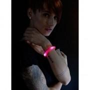 Merkloos 2x Feest/party rode armbanden met LED lampjes voor dames/heren/volwassenen