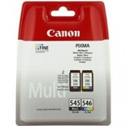 ORIGINAL Canon Value Pack nero / differenti colori PG-545XL CL-546XL Photo Value Pack 8286B006 2 cartucce d'inchiostro: PG-545XL + CL-546XL + 50 Blatt 10 x 15 cm carta foto glossy
