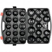YATO Комплект ключове за маслен филтър тип купа, 30 бр