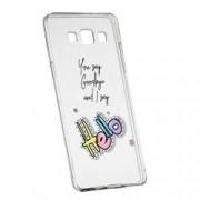 Husa Silicon Transparent Slim Hello 148 Samsung Galaxy A5