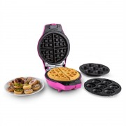 oneConcept Trinity Mini máquina de cake pop waffles donut 1000W rosa
