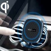 Nillkin Mc027 Car Air Outlet Vent Mount Clamp Holder 10W Cargador De Carga Rapida Qi Inalámbrico Magnético Para IPhone 8 / 8 Plus / X (negro)