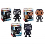 Funko Pop Set 3 Black Panther Civil War Marvel Excluisivo