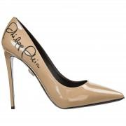 Philipp Plein Decolletes decoltè scarpe donna con tacco pelle signature