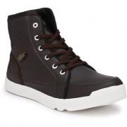 NYN Men's Brown Synthetic Leather Casual Boots
